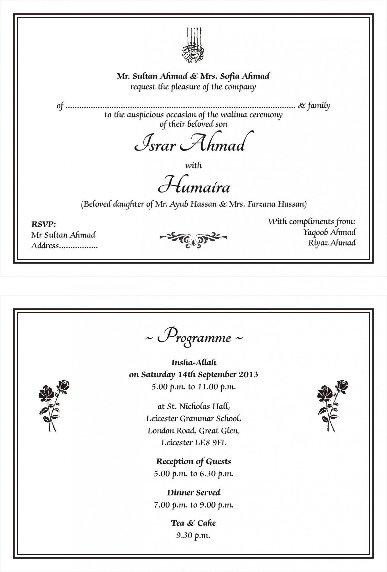 Wedding Card English Di 2020 Undangan