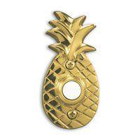 Heath-Zenith 872 Wired Push Pineapple Design Doorbell Button