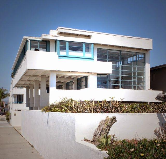 Lovell Beach House 1926 Newport Beach Los Angeles California Richard Neutra Houses