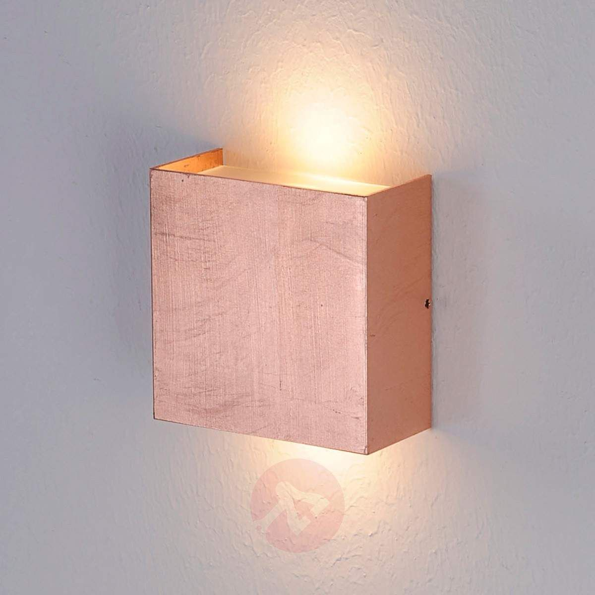 Mira LED wall light with antique copper finish Wall Lights