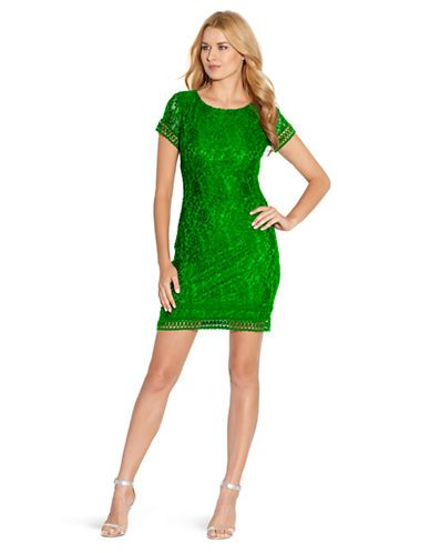 8692632f763c Brands | Dresses | Lace Cap Sleeve Dress | Lord and Taylor | Green ...