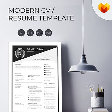 Daniel Gray Event Planner Resume Template Illustration