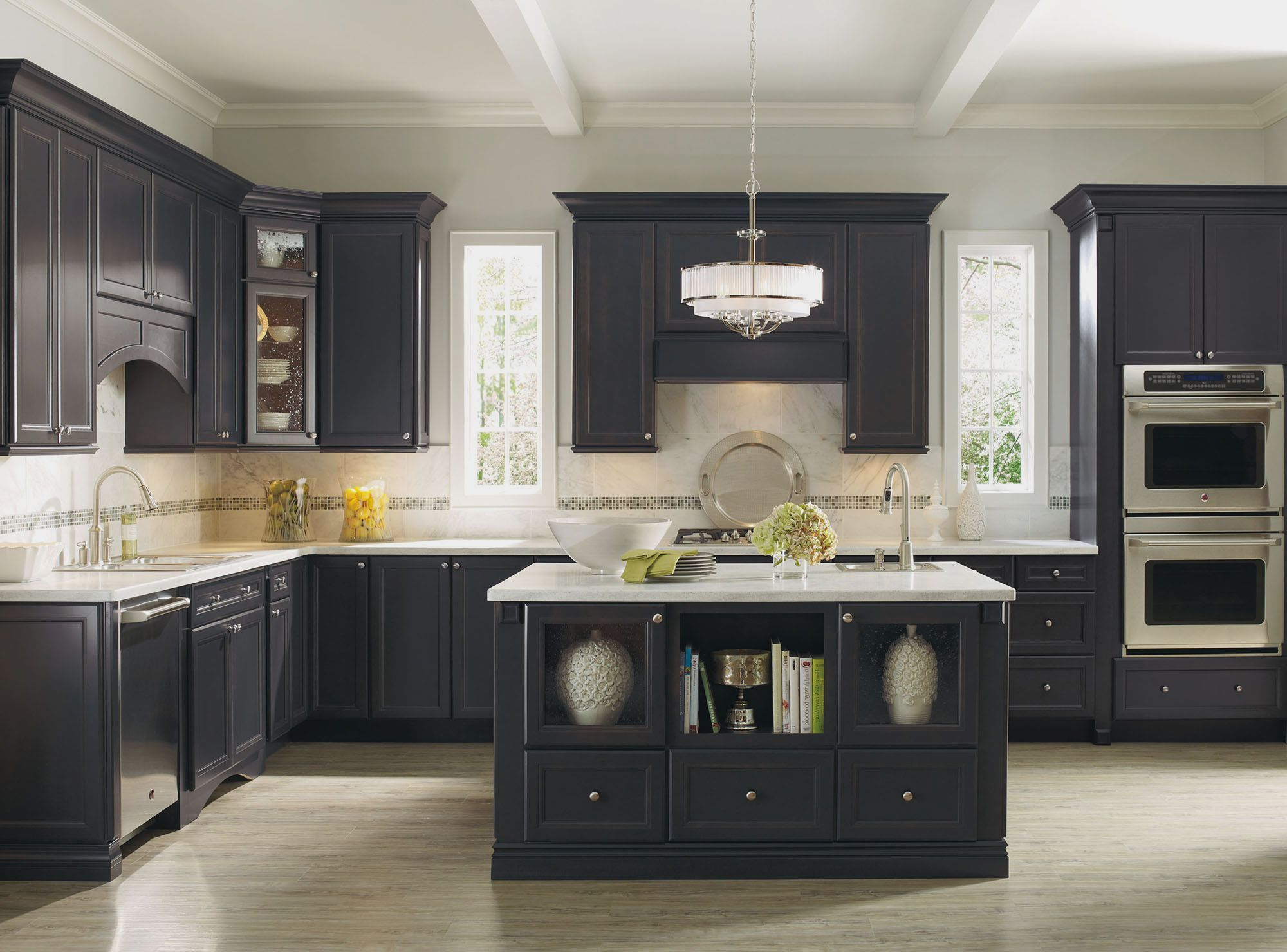 grey tiles ikea backsplash with grey wooden kitchen cabi and white cabinet black traditional on kitchen cabinets grey and white id=15734