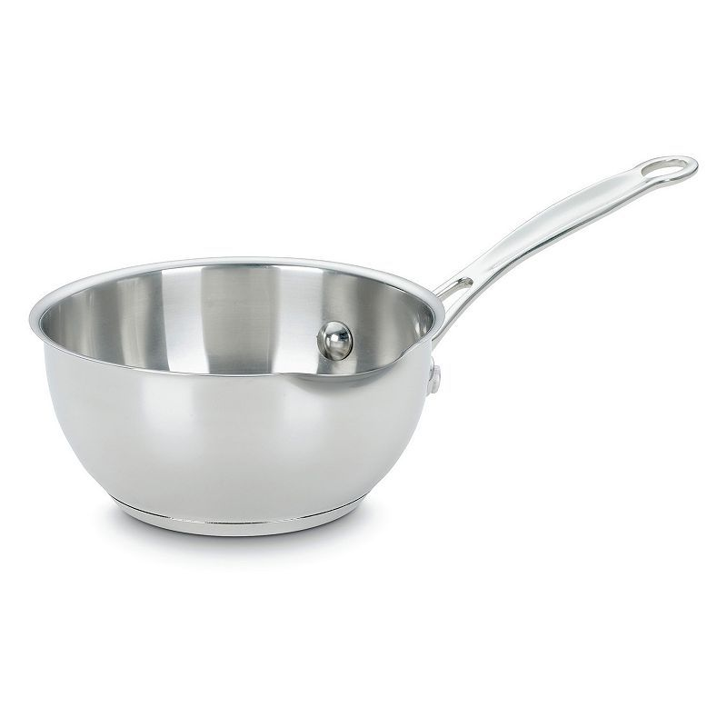 Cuisinart Chef's Classic Stainless Steel 1-qt. Saucepan with Pour Spout, Grey