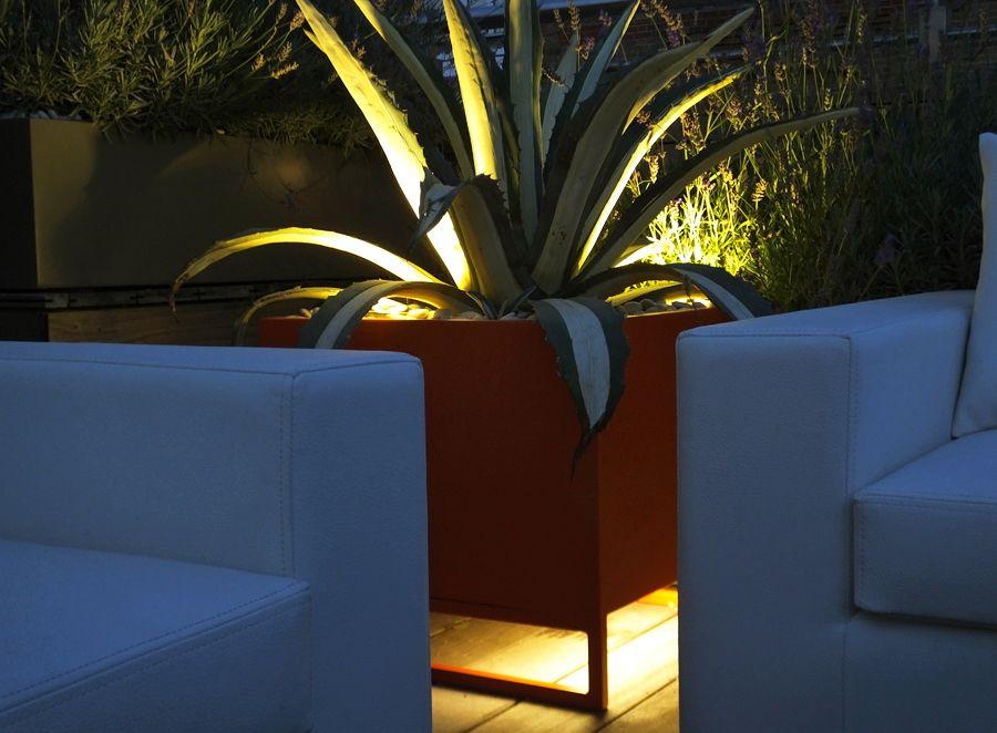 planter lighting. #LED #lighting Under Lighting For A New #planter #design - An Orange Planter G