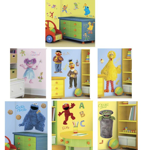 Sesame Street Decals Complete Room Package - Wall Sticker Outlet ...