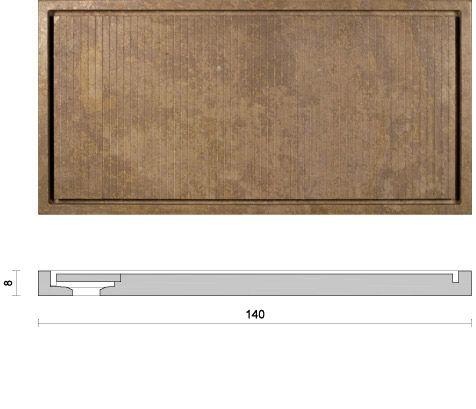 Idro Strip Design Pibamarmi Collezione Basic Collection Piatto