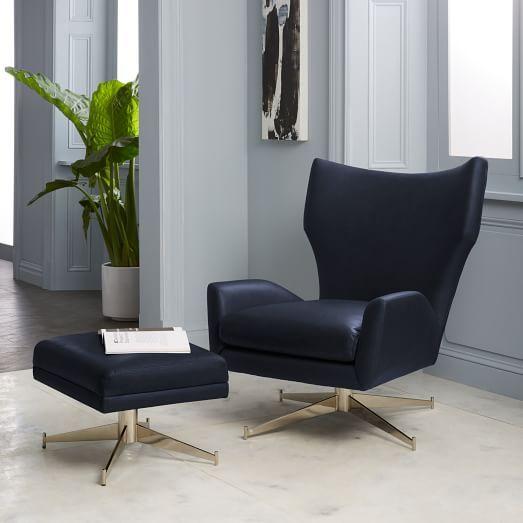 Hemming Leather Swivel Armchair Swivel Armchair Living Room