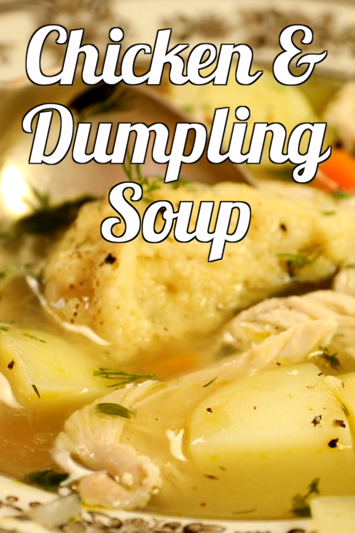 Chicken And Dumpling Soup Video In 2020 Chicken And Dumplings Chicken Recipes Crockpot Chicken And Dumplings