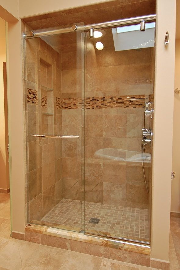 This Shower Is Gorgeous Especially The Sliding Glass Doors