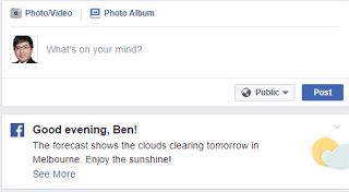 Facebook Weather Forecast   Social-Media Technology Weather