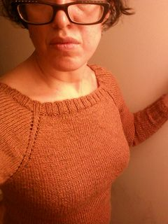 Simple Worked-From-The-Top Raglan Pullover Pattern Calculated by the Percentage Method