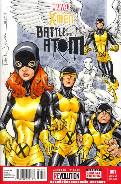 X Men Battle Of The Atom 2013 No 1 Blank Cover Made Un Blank By Todd Nauck Xmen Marvelcomics Comics X Men Marvel