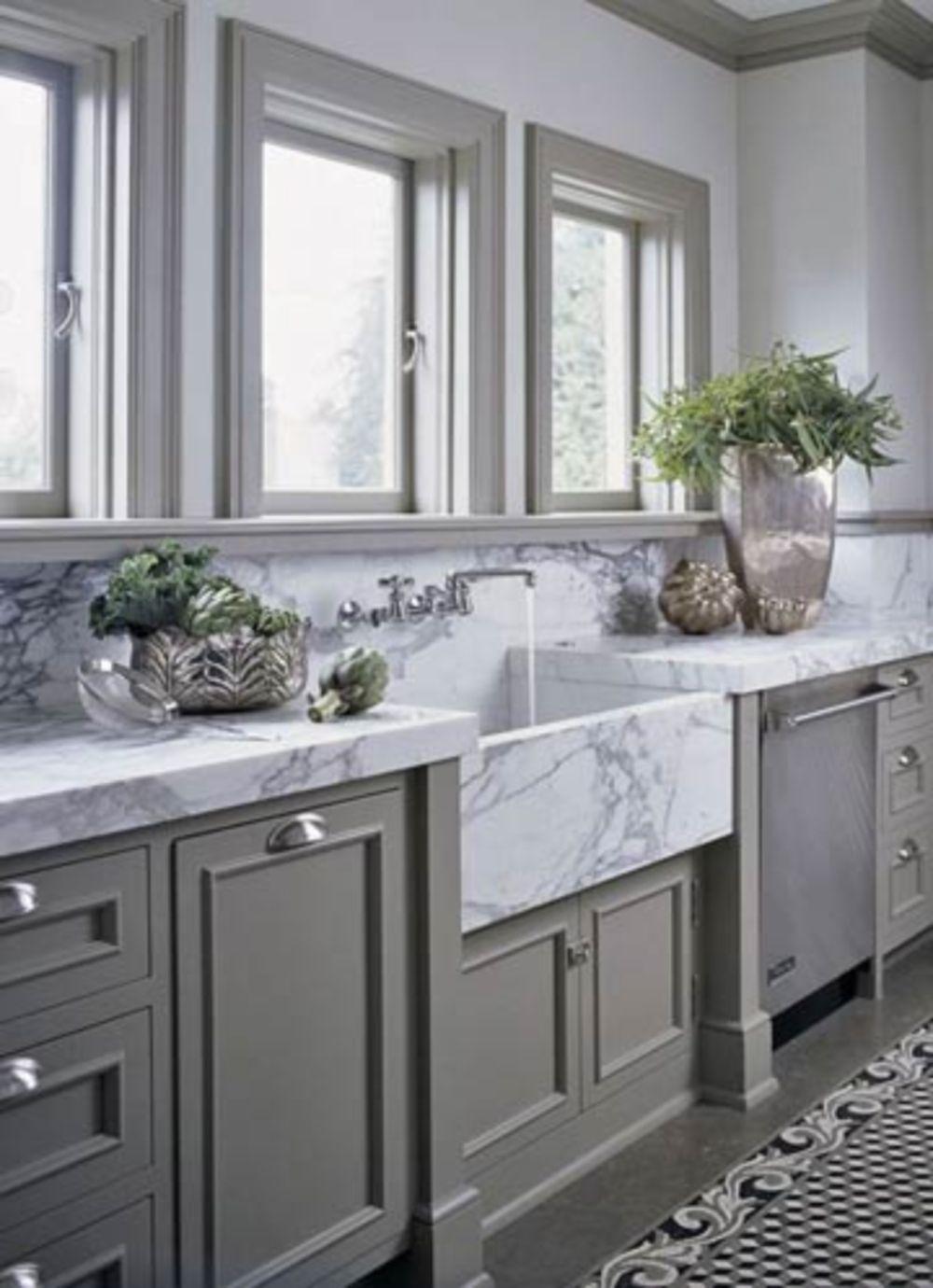 Gorgeous 44 Luxury Farmhouse Kitchen Decorating Ideas Marble