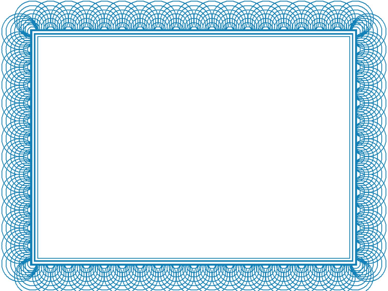 Blue Renaissance Border Google Kereses Certificate Border Certificate Background Border Templates