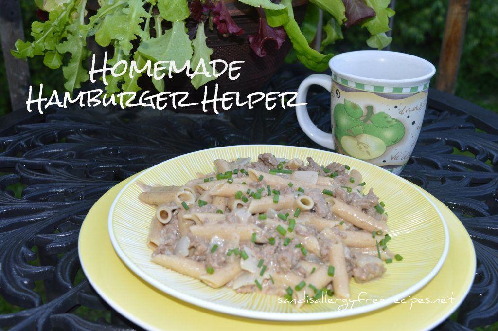 Hamburger Helper (Gluten Free/ Dairy Free Homemade Hamberger Helper w Goat CheeseHomemade Hamberger Helper w Goat Cheese