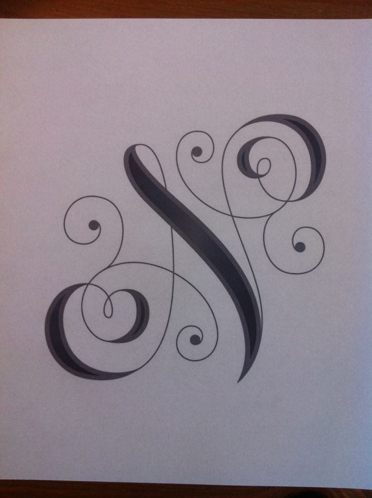 Permanent Link To Letters With N Design Tattoo 6
