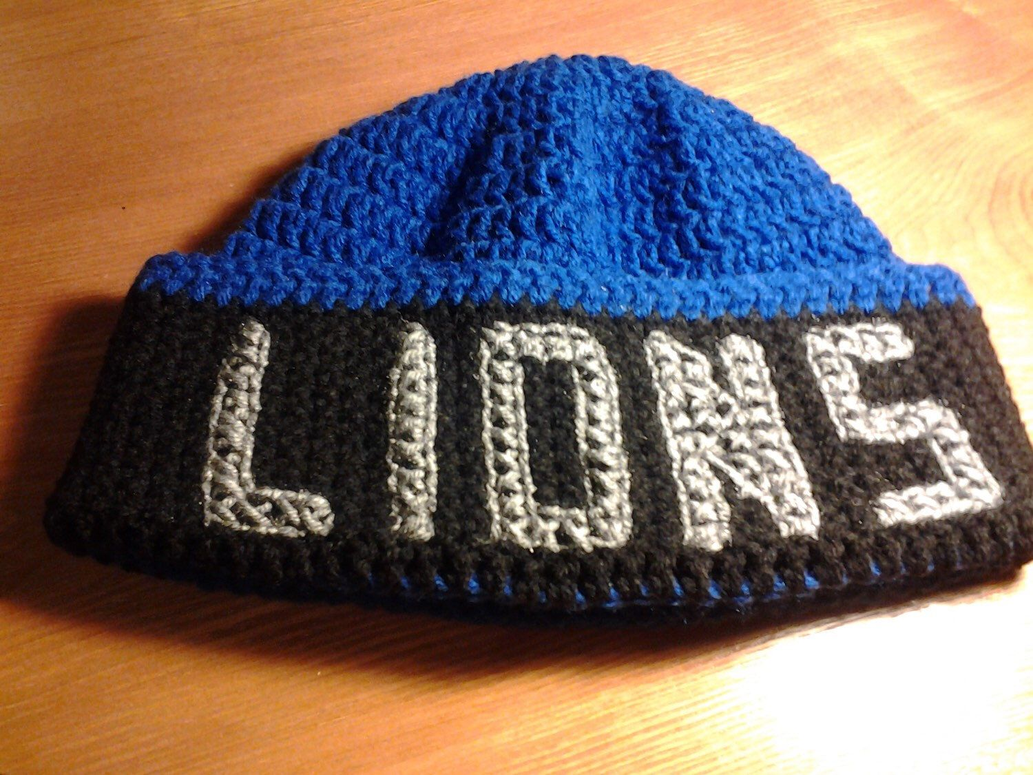 Detroit lions crocheted beanie detroit lions football hat menus