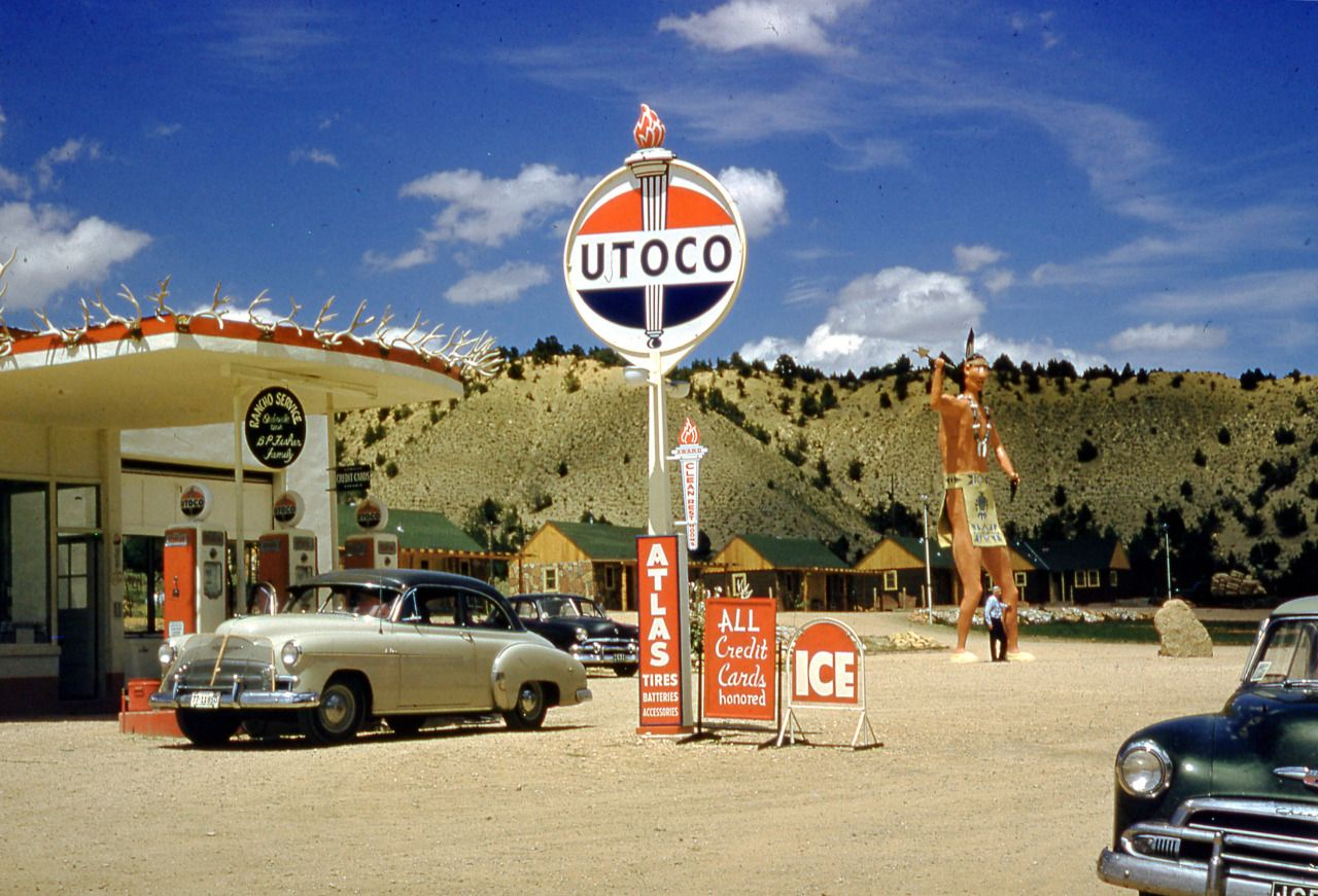 "urbancentury: "" Utoco gas station and Chevy BelAire in Orderville ..."