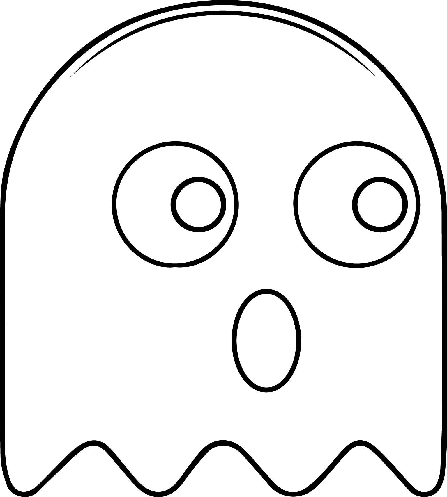 Better Pac Man Coloring Pages To Print Pacman Page
