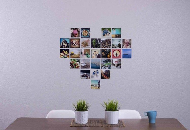 fotowand herz selber machen so gestalten sie ein herz. Black Bedroom Furniture Sets. Home Design Ideas
