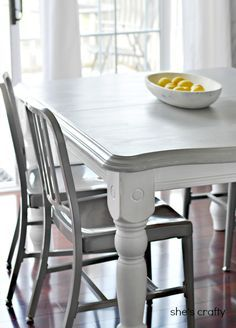 Beautiful Dining Table Idea, But White Top Or Wood Grain. Super Cute DIY Home Decor  Ideasu2026