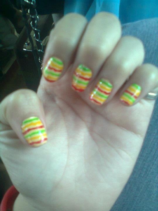 Stripes Reggae Green Yellow Red Fiestadesign Colorful Nail