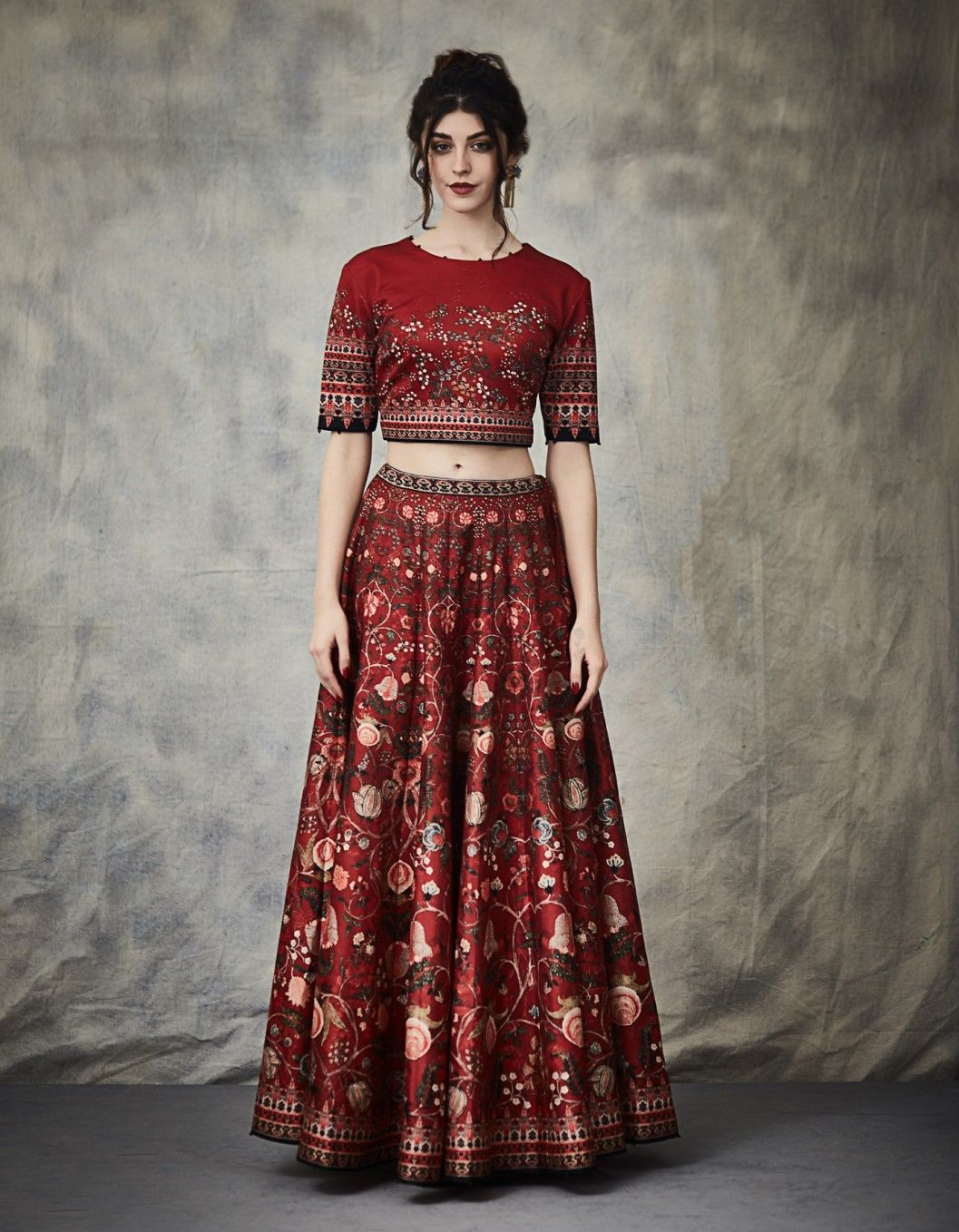 3e672b5f1d Buy Red Digital Print Lehenga With Blouse by RAJDEEP RANAWAT Available at  Ogaan Online Shop