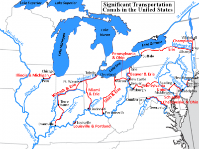 US Migration Canals Historical maps, Cc cycle 3, Erie canal