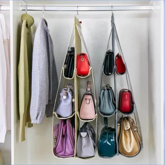 Very Clever Handbag storage ideas en 2020 | Rangement sac à main, Rangement sac, Idee rangement ...