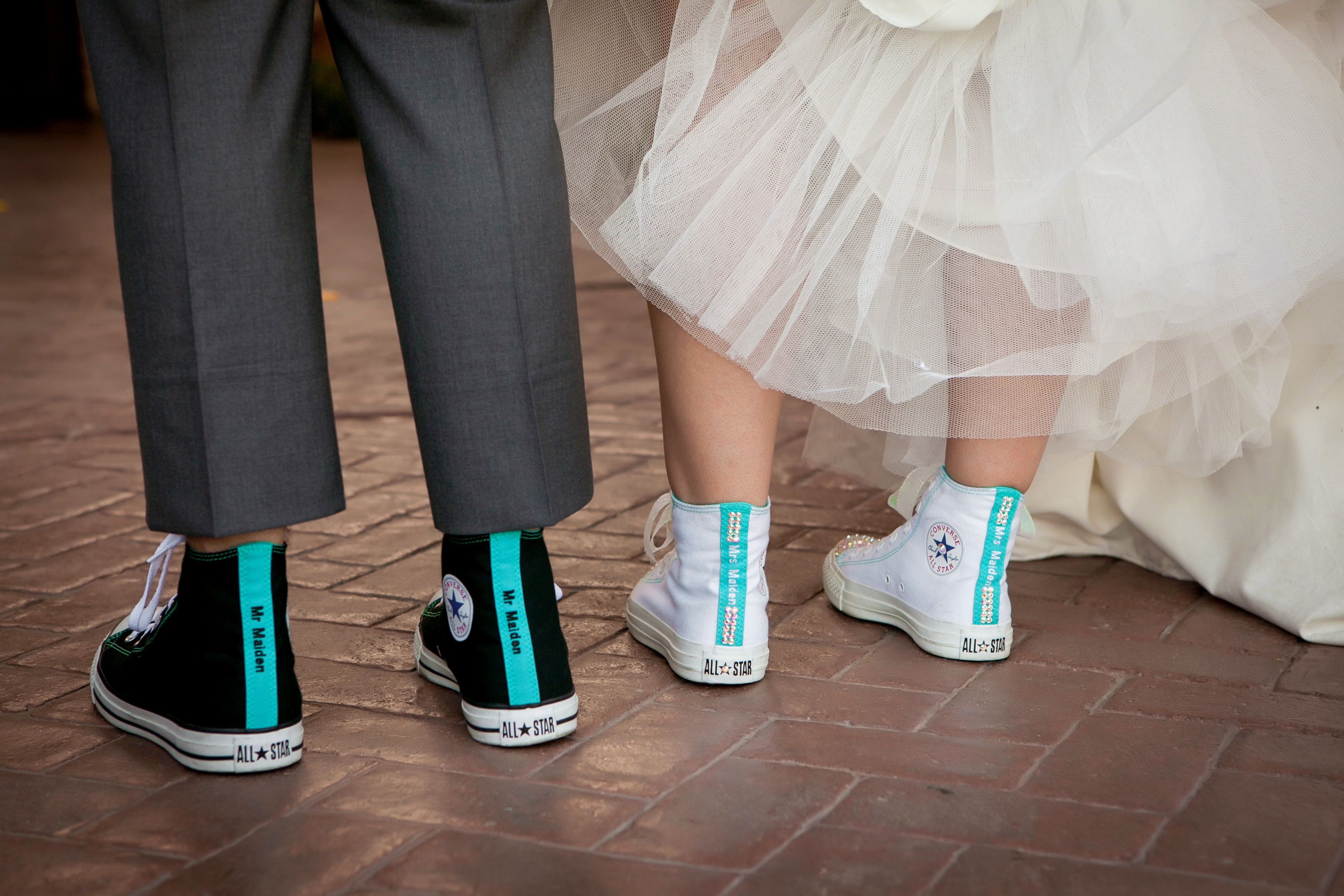 Matching Bride And Groom Personalized Converse Villasiena Cc