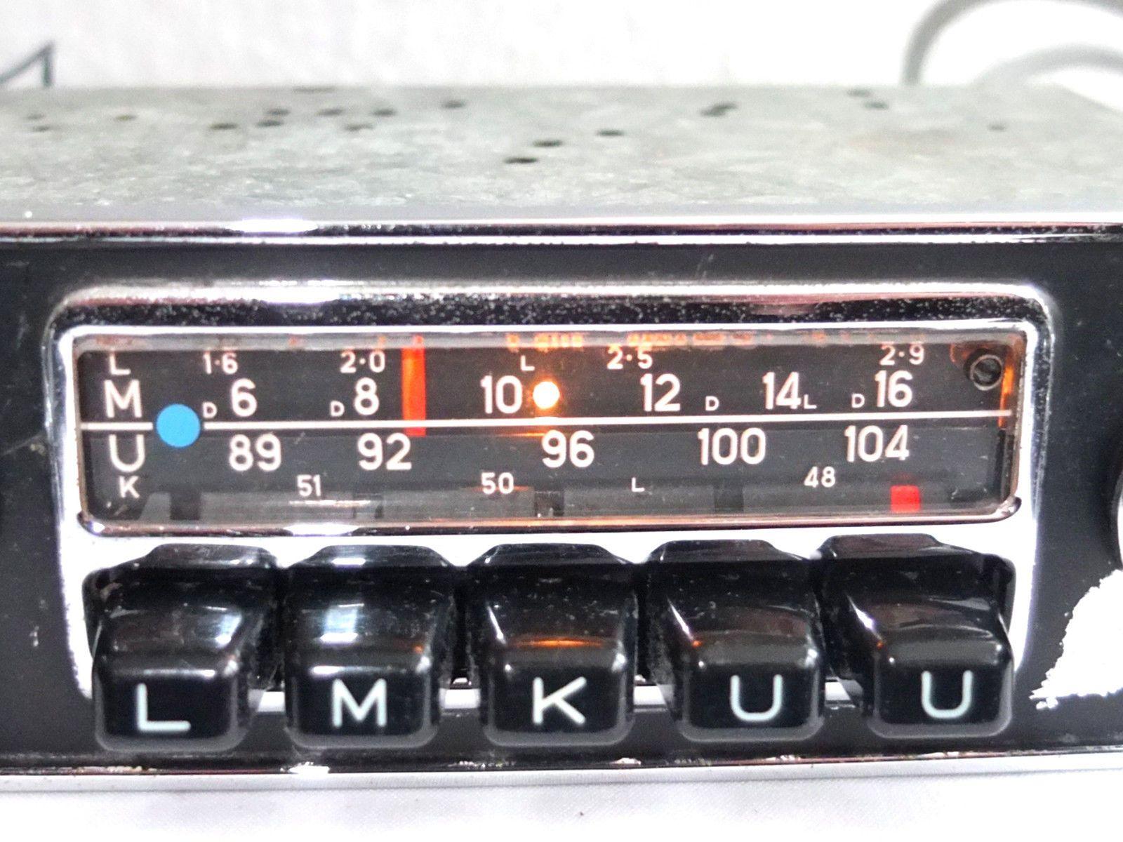 Details zu Blaupunkt FRANKFURT Chromblende Oldtimer Autoradio ...