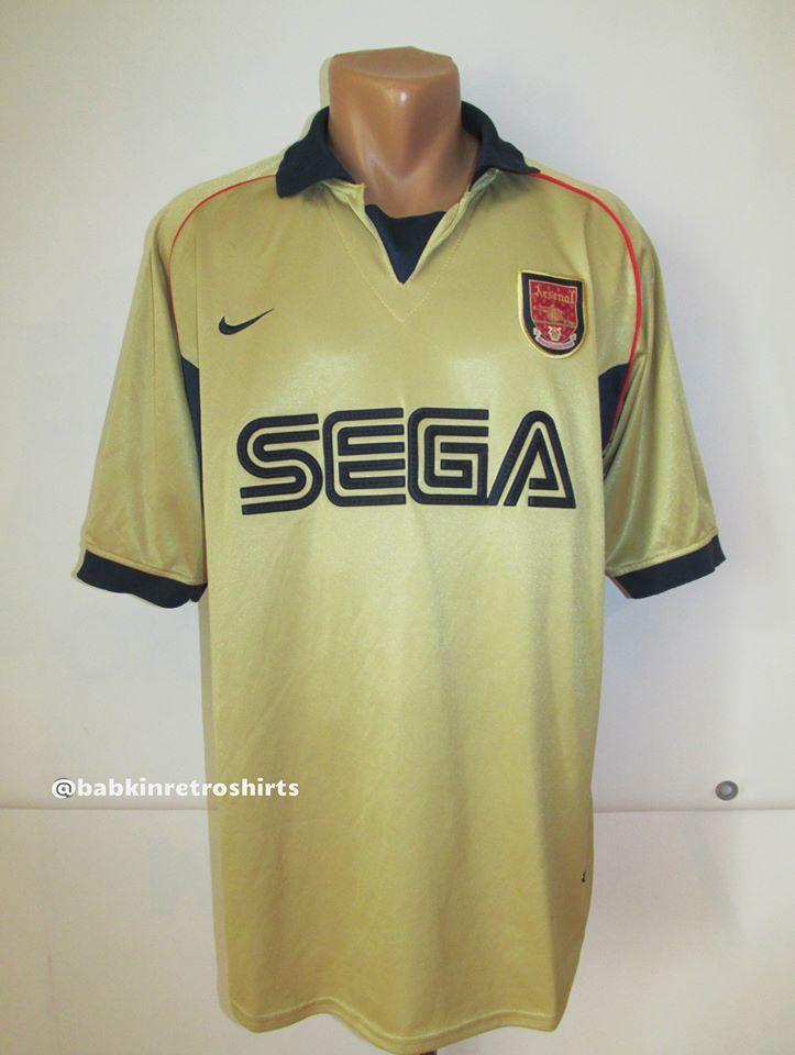 9b5aea9e7b0 Arsenal 2001 2002 away football shirt replica by Nike England UK London  Gunners soccer Ars AFC Sega vintage  arsenal  gunners  sega  vintage   football ...