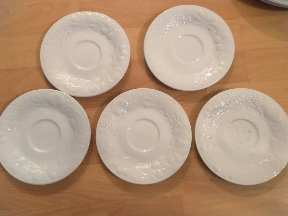Gibson Four Seasons Embossed Fruit \u0026 Floral China Dinnerware 10 piece saucer Set | Pottery \u0026 & Gibson Four Seasons Embossed Fruit \u0026 Floral China Dinnerware 10 ...
