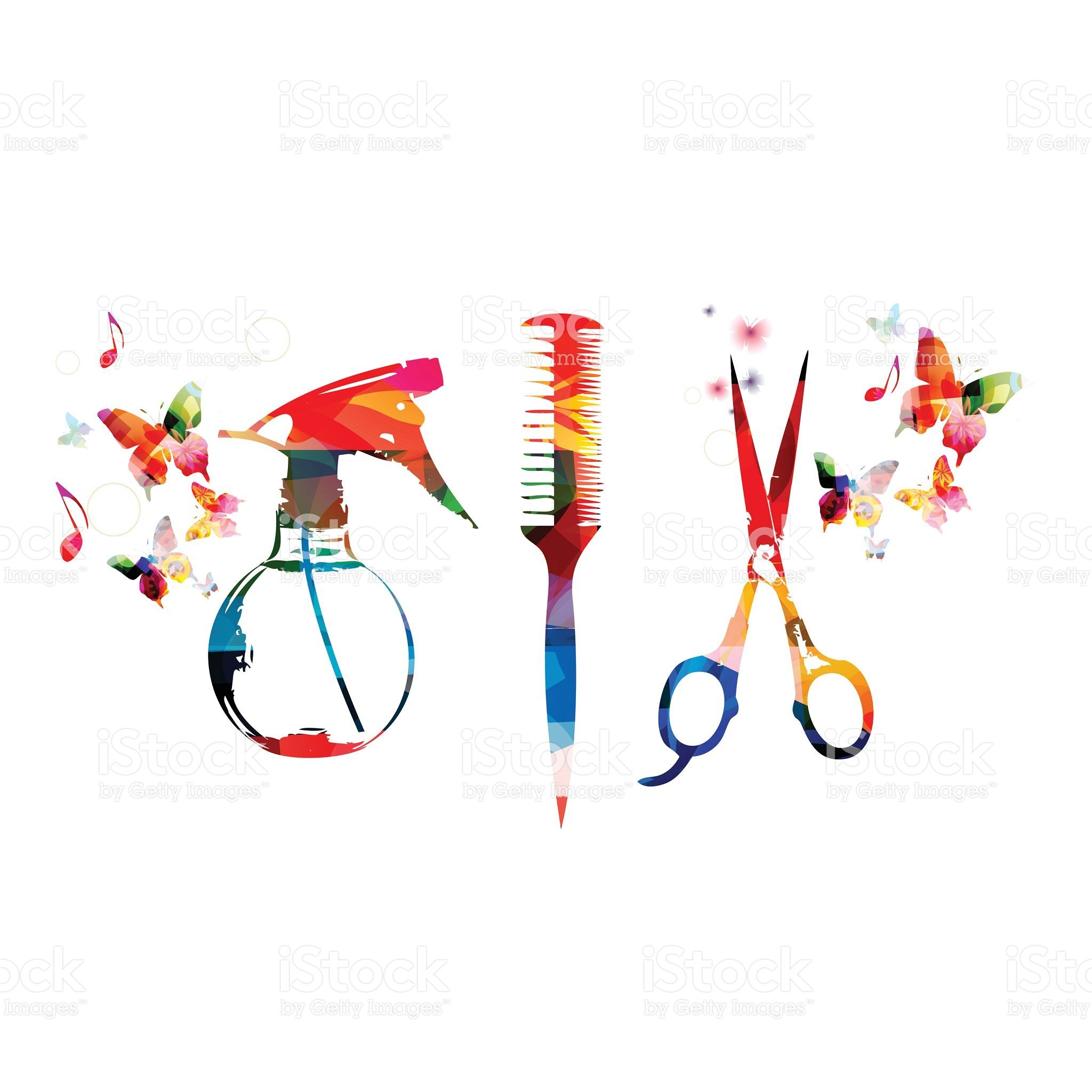 hairdressing tools background
