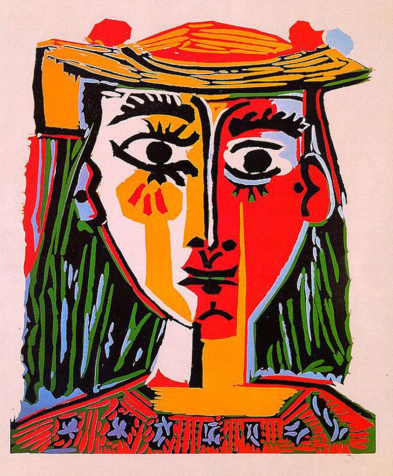 Woman with hat\', 1962 - Pablo Picasso | Expressionism Period: Later ...