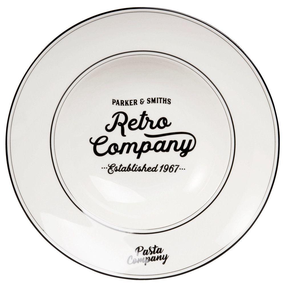 Assiette à pâtes en porcelaine blanche en 2019 | Collection Green