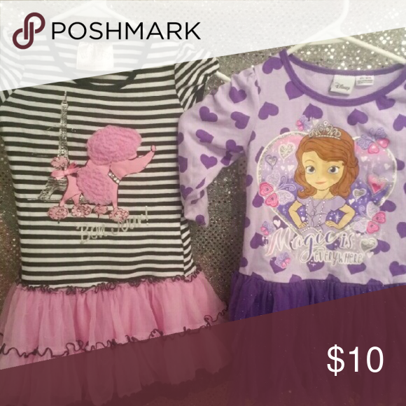 Both dresses one price sz 4T wow one price lk new Get both outfits for your Lil one Disney Dresses Casual