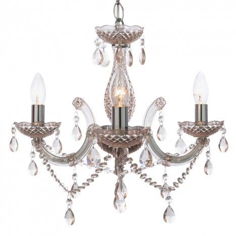 New Marie Therese 3 Light Chandelier Pink from Litecraft