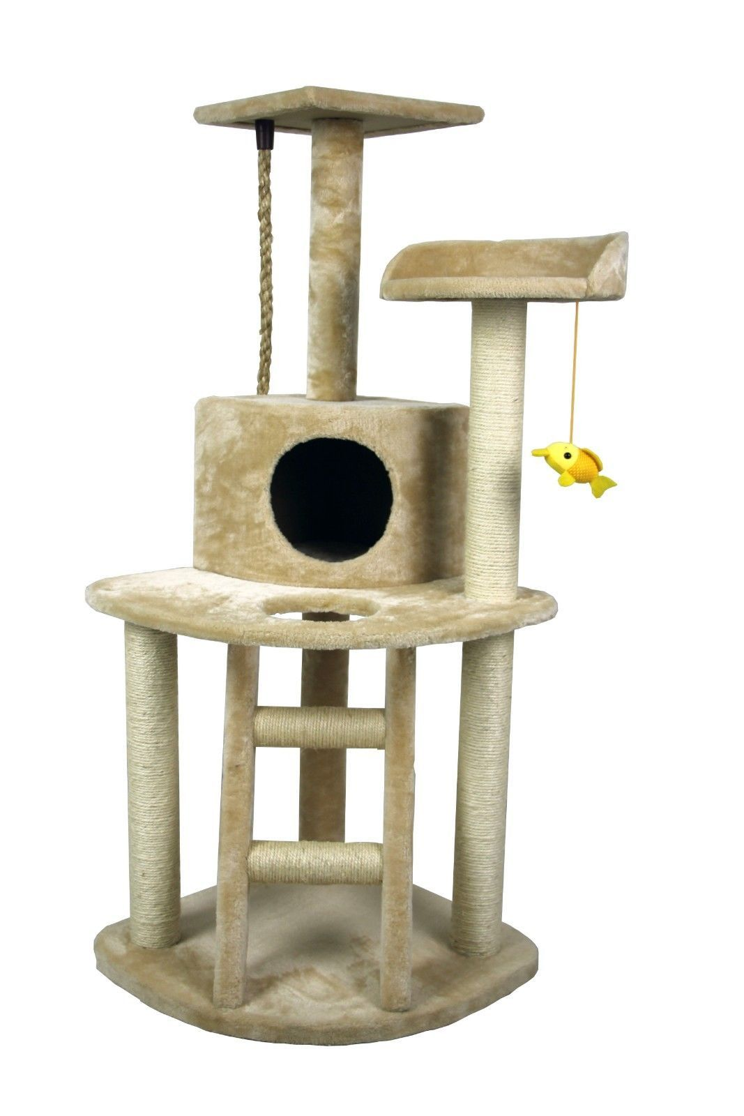 hiding cat tree 48 play house condo furniture bed tower. Black Bedroom Furniture Sets. Home Design Ideas