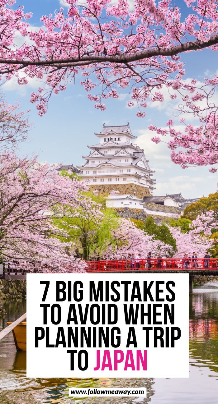 7 Big Mistakes To Avoid When Planning A Trip To Japan | How to plan travel to Japan | Japan travel tips | best things to do in Japan on your Japan itinerary | how to travel to Japan | what to do in Japan | cherry blossoms in Japan #japan #cherryblossoms