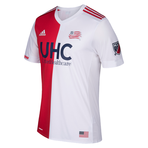 74e92b2597717 New England Revolution 2017 Authentic Away Jersey     The all new 2017 MLS  kits are in and available now at WorldSoccershop.com  NewEngland  Soccer   Jersey