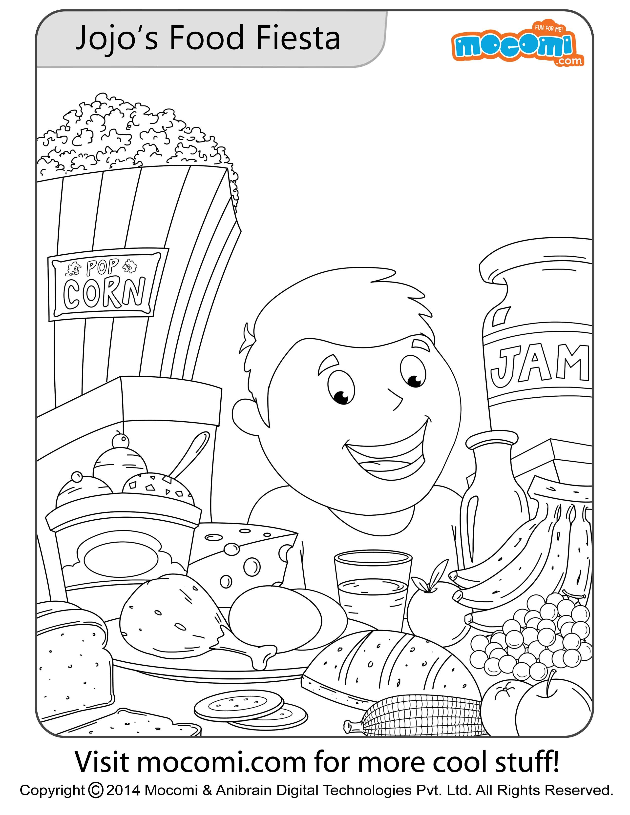 Jojo 39 s Food Fiesta Colouring Page