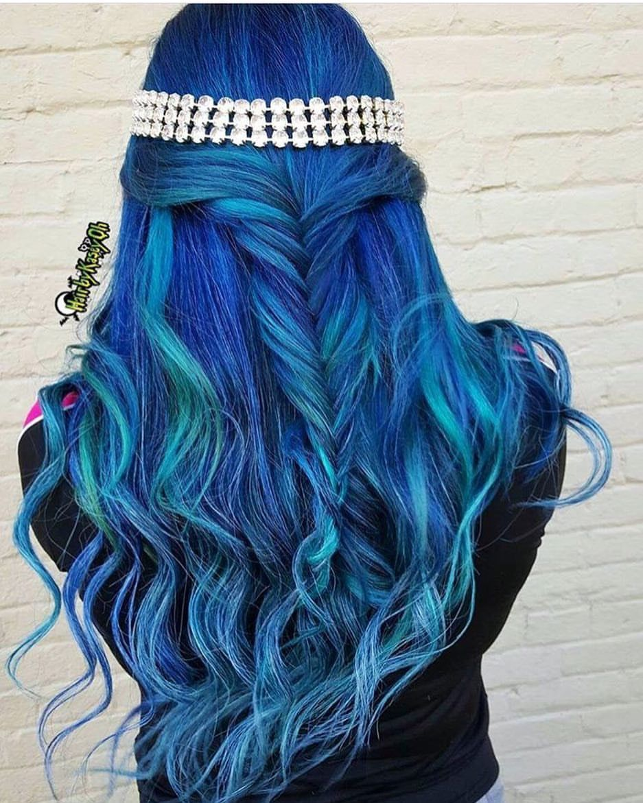 Jamaican Wedding Hairstyles: Pulp Riot - Mermaid Bright Hair Colour & Curls