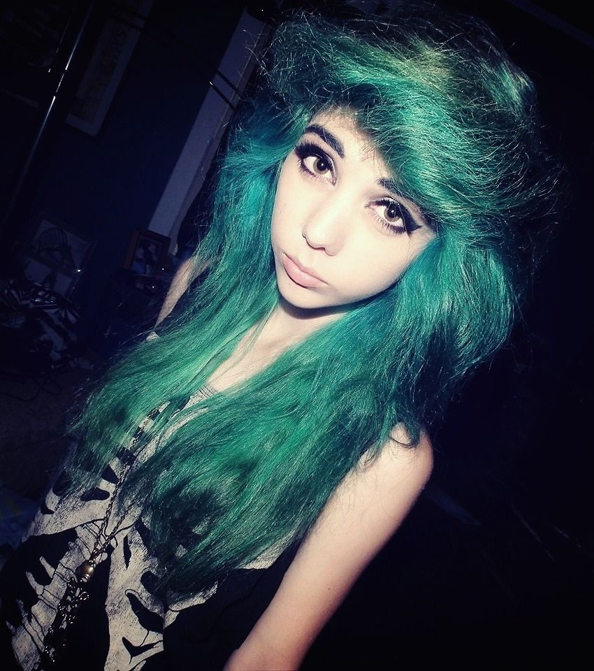 Scene hair girls pinterest turquoise my last and hair color