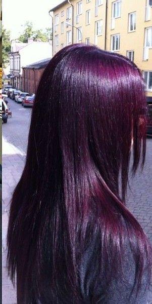 Deep Magenta Hair Color Purple Plum Hair Hair Styles
