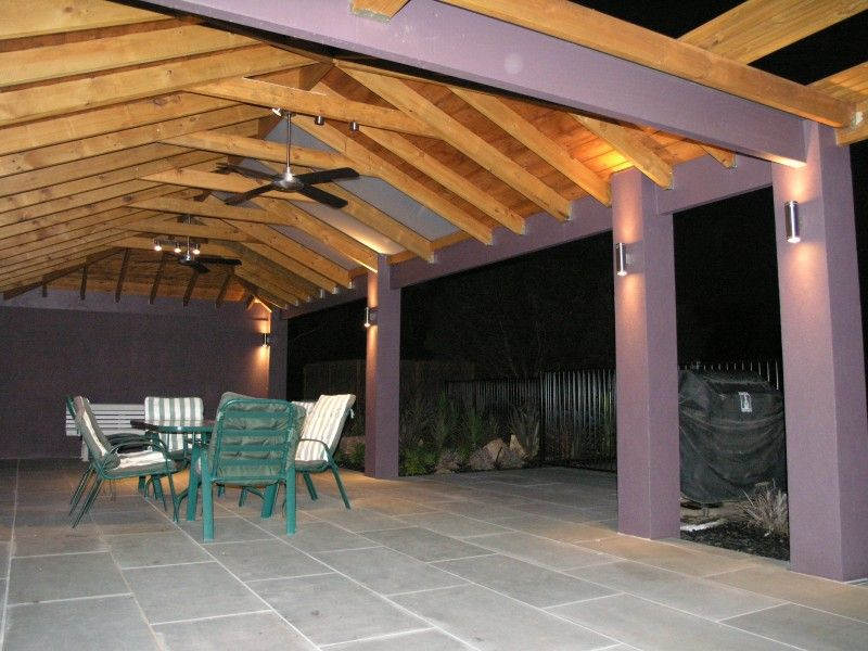 Walled Pergola Patio