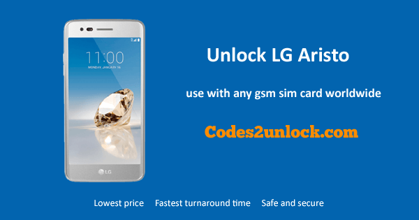 How to Carrier Unlock Your LG Aristo by network Unlock Code
