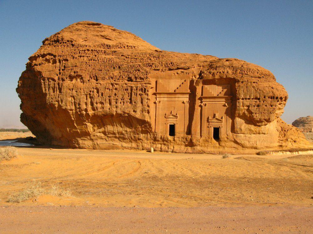 The Mysterious Ancient City Of Hegra Mada In Saleh In Saudi Arabia Travel To Saudi Arabia Desert Places Ancient Cities