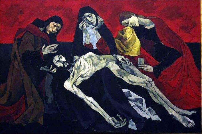 Oswaldo Guayasamín, La Pieta de Avignon, 20th century (after Quarton)
